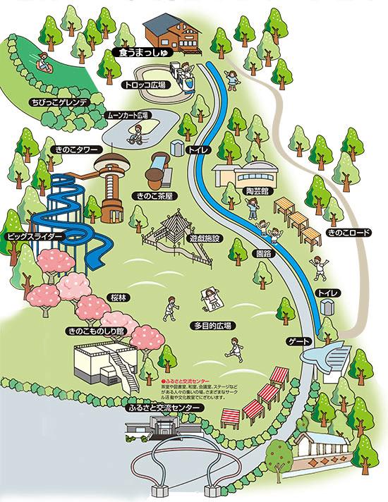 きのこの森施設マップ